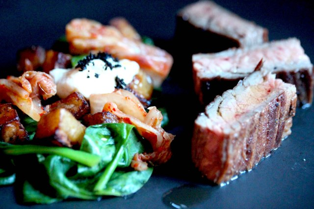 Bavette steak dish