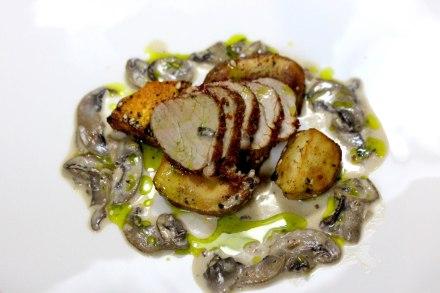 Aleppo Pepper Pork with mushrooms