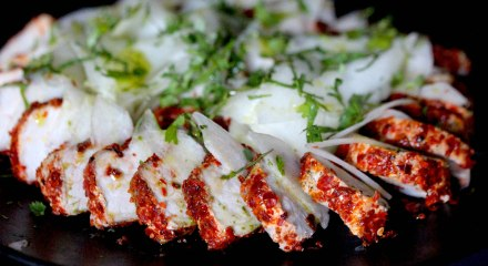 Aleppo pepper crusted pork
