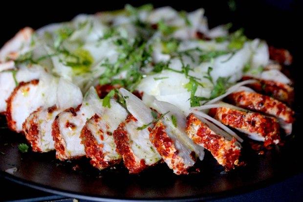 Aleppo pepper crusted pork