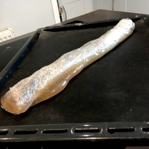pork loin cooked in clingfilm