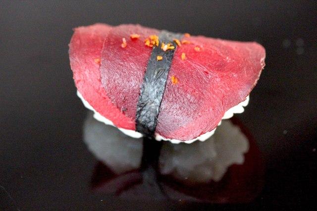 Beetroot and Aleppo pepper Nigiri