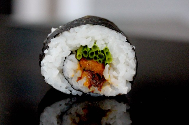 Roasted Butternut squash and chive Futomaki