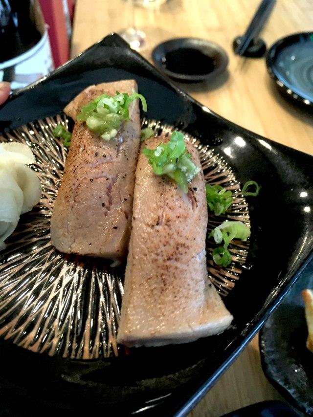 seared fatty tuna nigiri