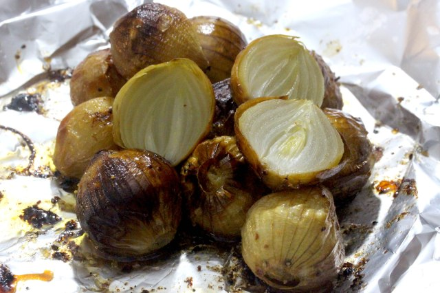 onions roasted in cobnut oil