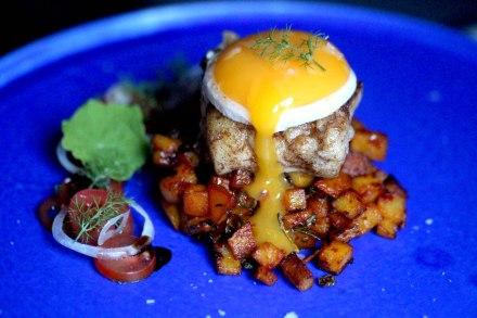 Cod, egg and Nudja fried potatoes