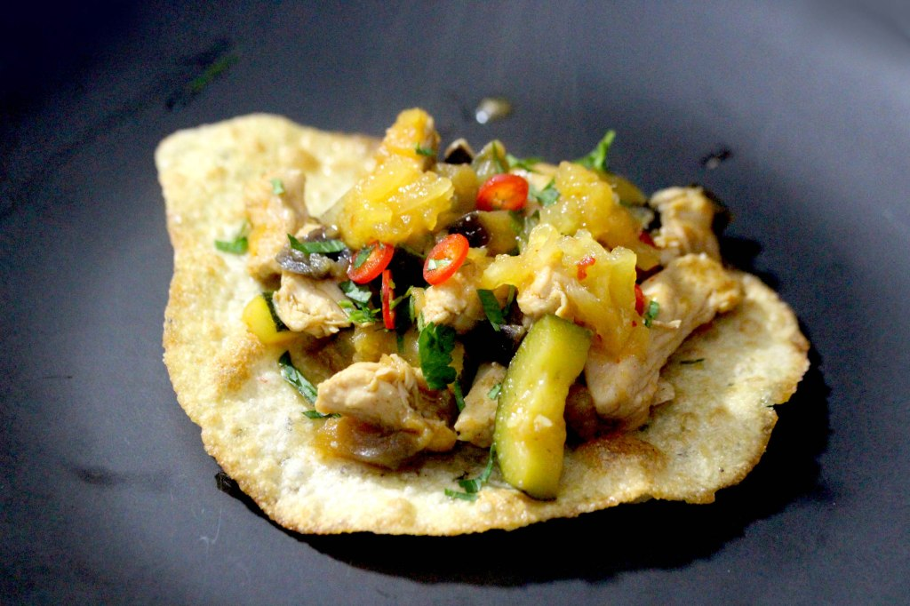 Chilli Pineapple chicken tacos