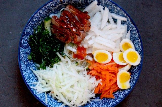 Duck Ramen with hot sauce broth