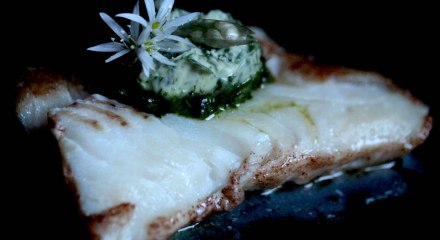 Skrei Cod with Wild Garlic Butter