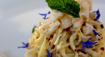 Spider crab linguini