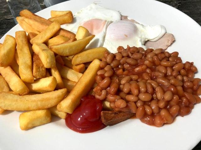 Ham Egg & chips