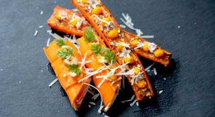 Roasted and pickled carrots