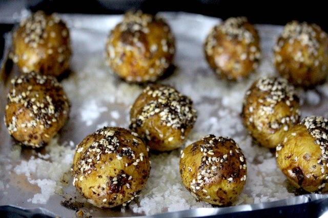 wagyu beef fat seeded roast potatoes