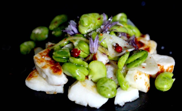 Broadbean salad