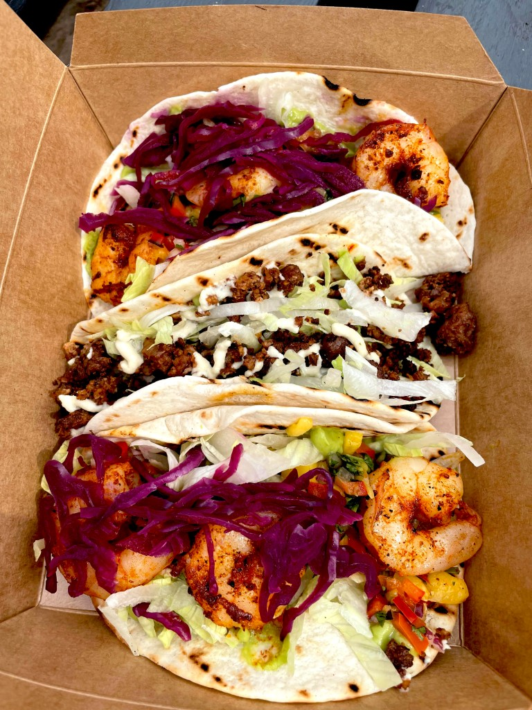Tacos from The Cult Cafe Neptune Quay Ipswich Suffolk